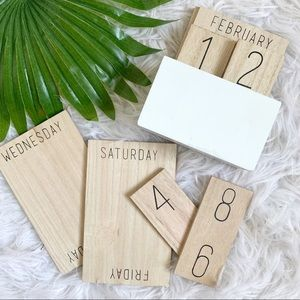 Office Envy | perpetual wood block desk calendar